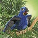 Folkmanis Blauer Papagei