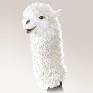 Folkmanis Alpaca für die Puppenbühne
