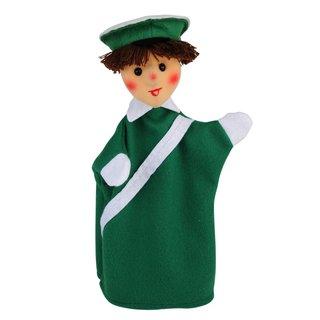 Polizist grün   Handpuppen Kersa Lina